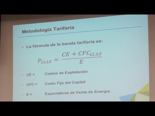 Sesión explicativa tarifas para plantas eólicas nuevas