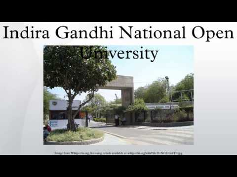 Indira Gandhi National Open University video cover1