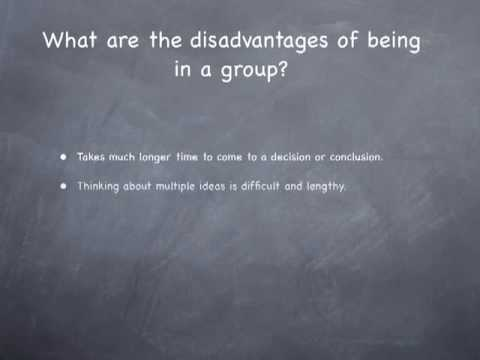 Video Advantages and Disadvantages in Groups