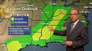 Thunderstorms sweep across the nation