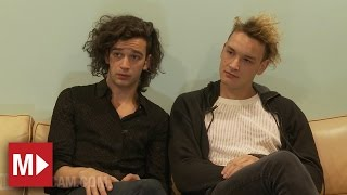 The 1975 talk Miley Cyrus, weed & playing Anti-Christ live | Moshcam Interviews