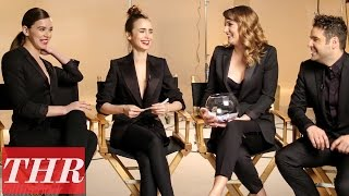 Hailee Steinfeld & Lily Collins Play Fishing For Answers: Humility, Gratitude, & Spontaneity | THR