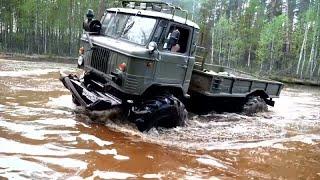 ГАЗ 66 и ВЕЗДЕХОДЫ в болоте и на бездорожье