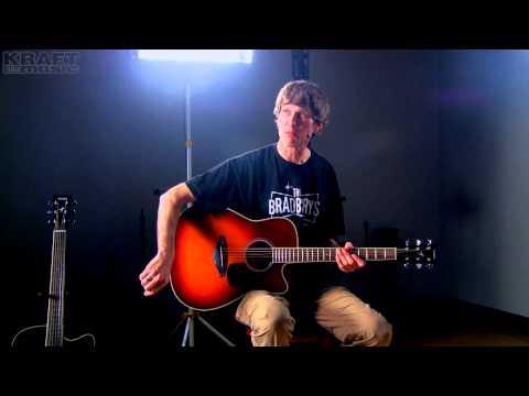 Kraft Music - Yamaha FGX720SCA Acoustic Electric Guitar Demo with Jake Blake