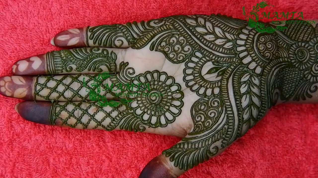 latest mehndi design for front hand by mamta mehndi design