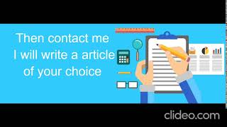 Are you looking for a content writer?. So, I a here to benefit you.