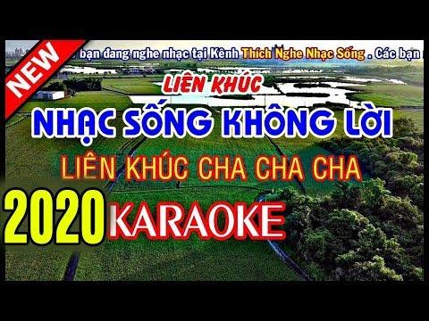 nhac-song-khong-loi-rat-hay-karaoke-nhac-song-thon-que-2018-lk-cha-cha-cha-tuyet-hay
