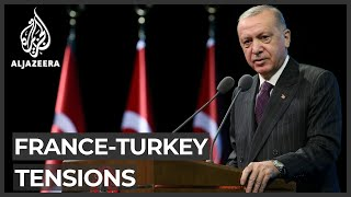 Turkish president calls for sweeping boycott of French goods