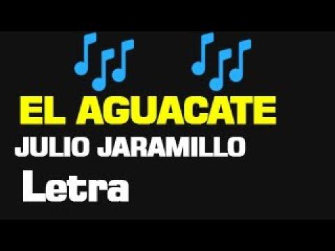 EL AGUACATE LETRA  JULIO JARAMILLO
