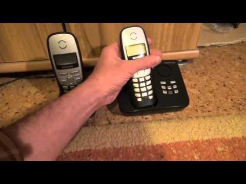 Funktionstest Telefon Siemens Gigaset A165,