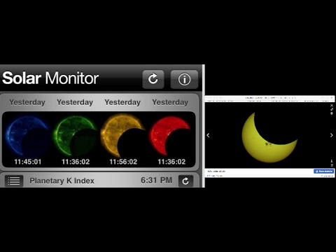 SOLAR MONITOR SHOWS HUGE PLANET BLOCKING THE SUN!!