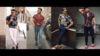 Latest Mens Summer Casual Style Inspiration For Holiday | Mens Print Shirt & Pant Style 2019 | PBL