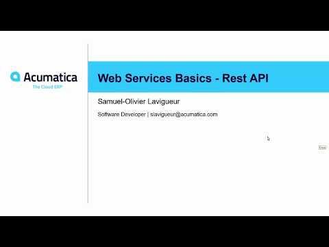 Developer Webinar Series: Web Services Basics - Rest API