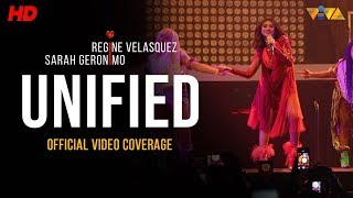 This performance is part of #UNIFIED Concert, featuring two of the country's iconic singers, the Asia's Pop Royalty, Sarah Geronimo, and the Asia's Songbird, Regine Velasquez.   #UNIFIED #WECHOOSELOVE #WEAREUNIFIED