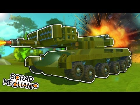 We Found the Best Tanks & Battled Them in Scrap Mechanic Multiplayer!