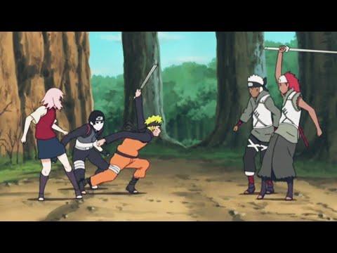 Наруто, Сакура и Сай против деревни Облаков