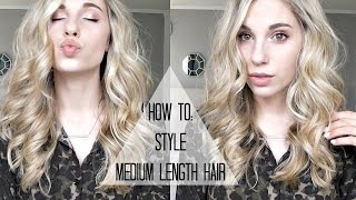 How I Style Medium Length Hair | Messy Curls