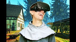 BUILDING, CRAFTING, AND SURVIVING MEDIEVAL TIMES IN VR! - Yore VR HTC VIVE Gameplay