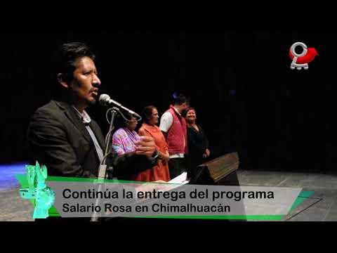 Continúa la entrega del programa Salario Rosa en Chimalhuacán
