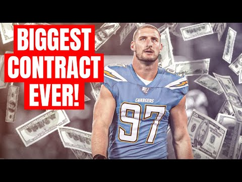 Chargers Joey Bosa Signs Record Breaking NFL Contract Extension!