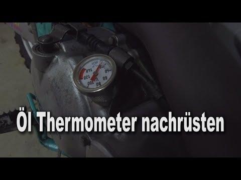Motorrad Öl Thermometer nachrüsten