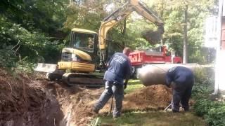 Propane Tank Installation - 500 Gallon In-Ground Tank