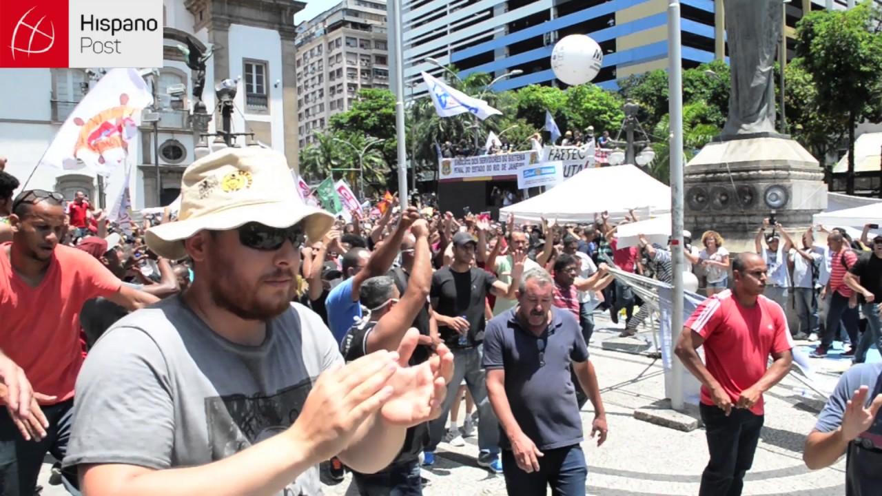 Revuelta popular en Rio de Janeiro