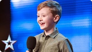 Don't be fooled by cute comedian Ned Woodman | Auditions Week 1 | Britain's Got Talent 2017