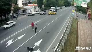 Видео с места смертельного ДТП в Сочи