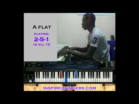 A Cool 2-5-1 chord progression in Ab - Inspiredfingers Nigeria