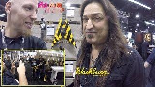 <b>Michael Sweet</b> NAMM 2017 Washburn Booth With Ishibashi Music