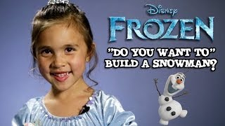 DO YOU WANT TO BUILD A SNOWMAN? 5-year-old cover by Jillian Disney's FROZEN