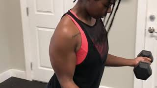 Dumbbell Bicep Curls w/ Static Holds