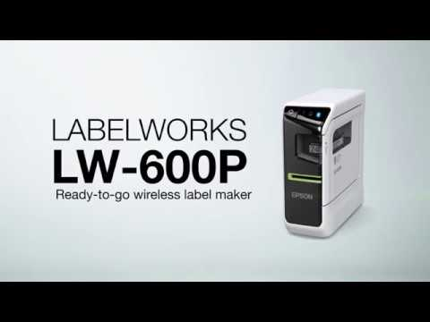 Epson LabelWorks LW-600P Desktop Label Printer video thumbnail