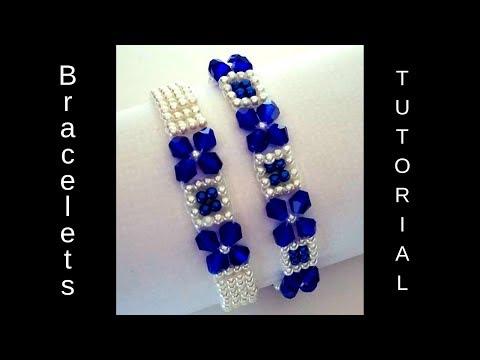 Very easy pattern for DIY bracelets. Beaded bracelets tutorial