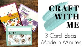 🔴 Craft with Me: 3 Card Ideas Made in Minutes