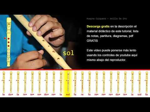 Tutorial Flauta Dulce Huayna Cuzqueno   Anillo De Oro