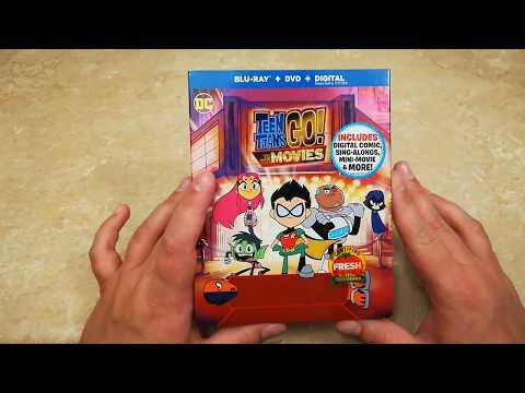 Teen Titans GO! To The Movies Blu-ray Unboxing