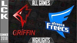 AFS vs GRF Highlights ALL GAMES | LCK Playoffs Semi-final Summer 2018 | Afreeca Freecs vs Griffin