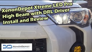 TRD 4Runner Xenon Depot LED High Beam Upgrade With DRL Driver