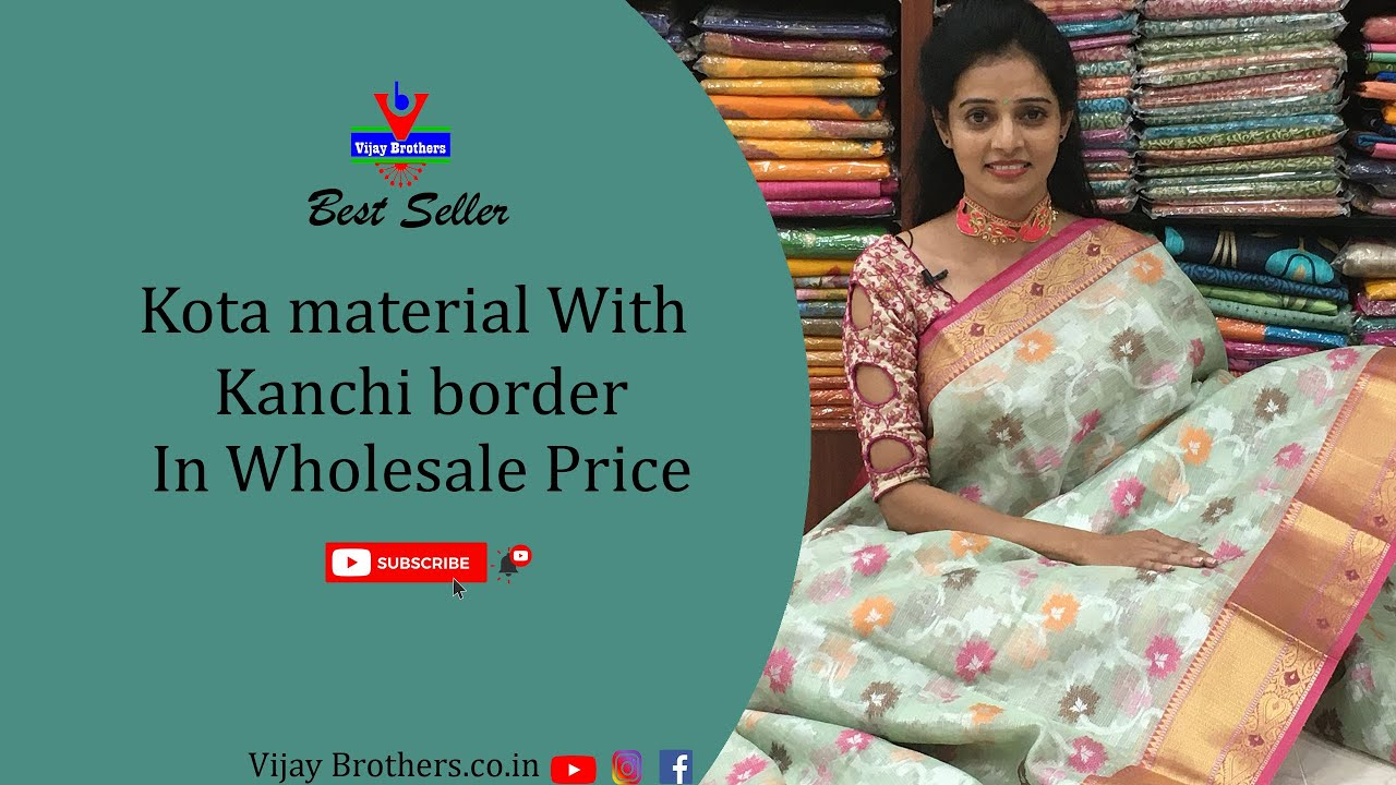 "<p style=""color: red"">Video : </p>Latest Kota material With kanchi Border 