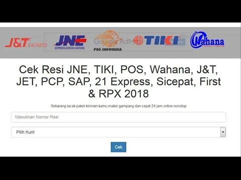 Cara Cek Resi JNE, J&T Express, POS, TIKI, Wahana (all in one gratis)