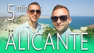 ALICANTE in 5 minutes | BEACH ☀️ guide CITY castle 😎