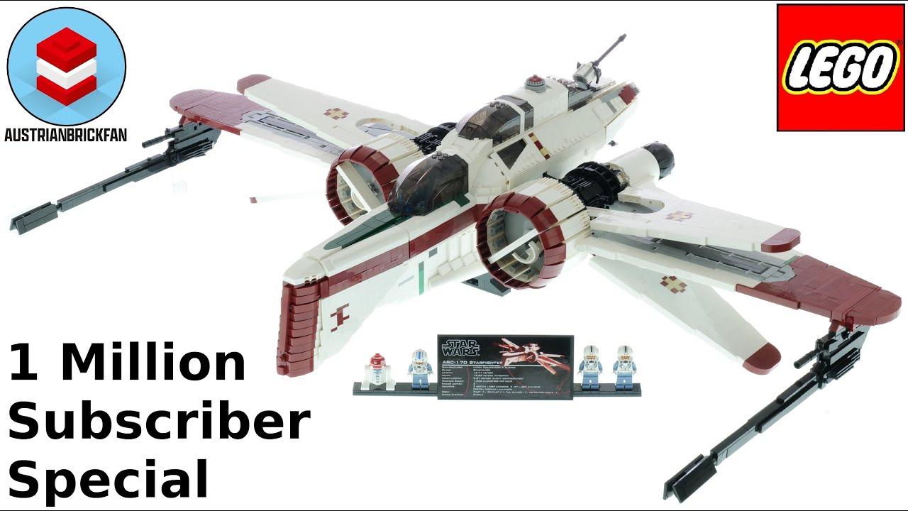 LEGO ARC-170 Starfighter Speed Build - 1.000.000 Subscriber special
