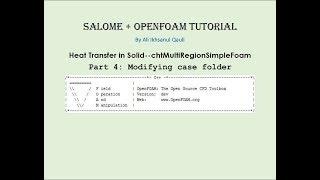 chtmultiregionfoam tutorial - मुफ्त ऑनलाइन