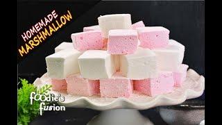 ঘরে মার্শম্যালো তৈরী এতো সহজ ! এই ভিডিও না দেখলে বিশ্বাস হবেনা | Marshmallow Homemade Recipe Bangla