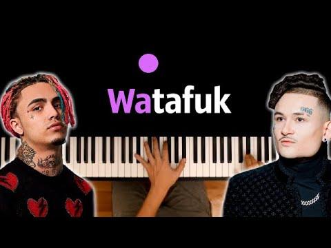 MORGENSHTERN & Lil Pump - WATAFUK?! ● караоке | PIANO_KARAOKE ● ᴴᴰ + НОТЫ & MIDI