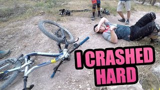 I CRASHED HARD ON THIS MTB TRAIL *HOSPITAL*