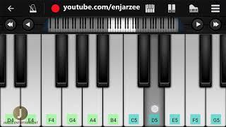 Jeene Laga Hoon (Atif Aslam) - Easy Mobile Piano Tutorial | Jarzee Entertainment