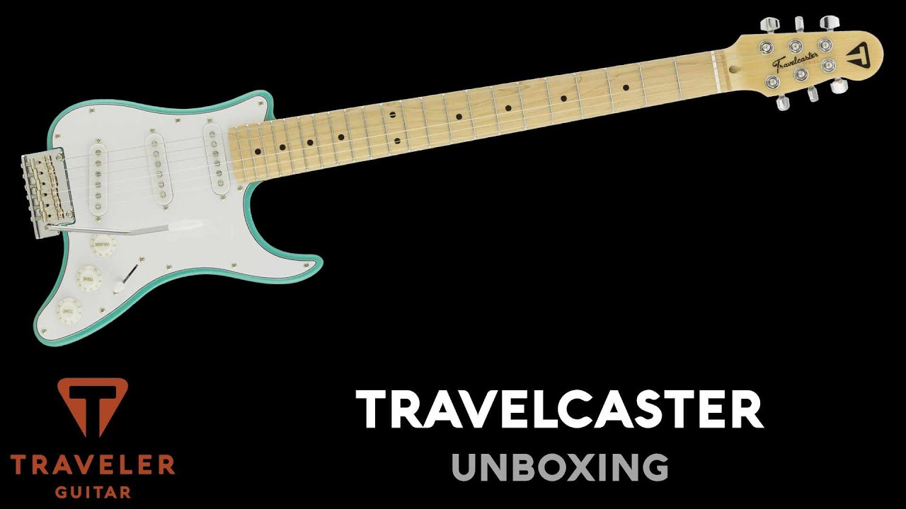 Traveler Guitar Travelcaster Deluxe Surf Green Unboxing